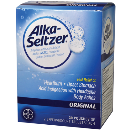 Picture of Alka Seltzer 30 Pouches of 2 Caplets Each