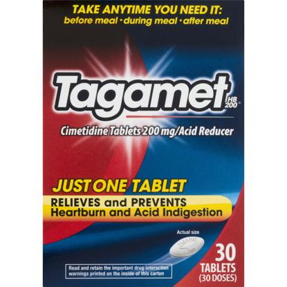 Picture of Tagamet HB 200 Acid Reducer 200 mg tablets 30 ea