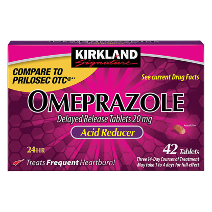 Picture of Kirkland Signature Omeprazole 20 mg 42 Tablets