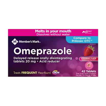 Picture of Member's Mark Omeprazole Delayed Release Disintegrating Tablets 20 mg 42 ct