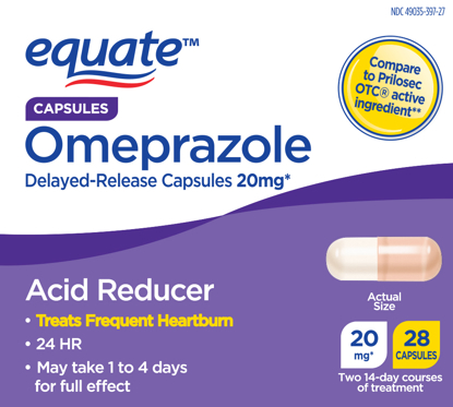 Picture of Equate Acid Reducer Omeprazole Magnesium Capsules 20.6 mg 28 Ct