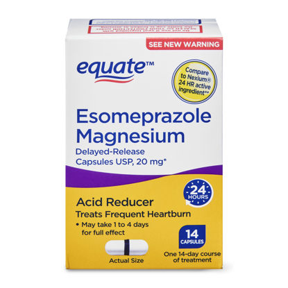 Picture of Equate Esomeprazole Magnesium Delayed Release Capsules 14 Count