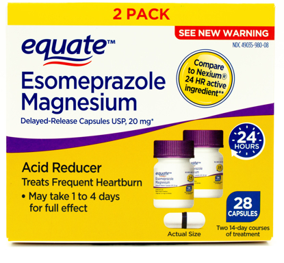 Picture of Equate Esomeprazole Magnesium Capsules 28 Count 2 Pack