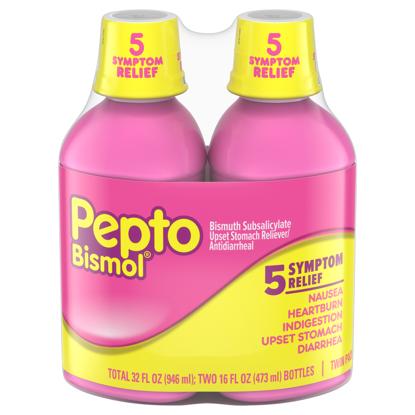 Picture of Pepto Bismol 5 Symptom Stomach Relief Liquid Original 16 oz 2 Pk