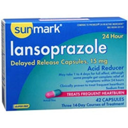 Picture of Sunmark Lansoprazole Delayed Released Capsules 15 mg 42 Capsules