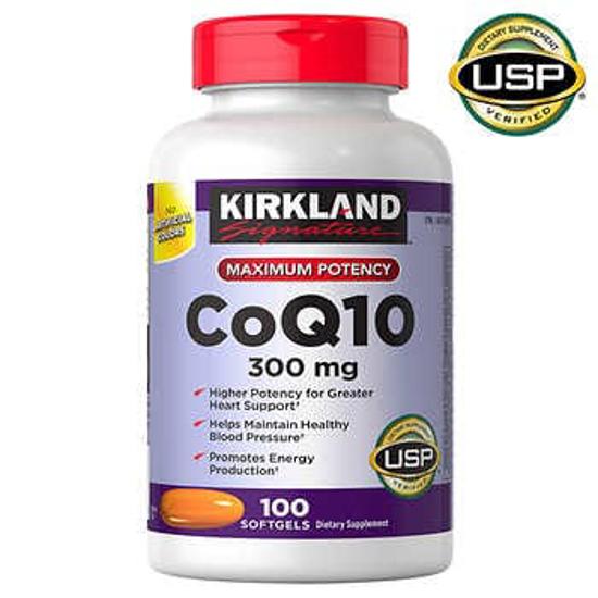 Picture of Kirkland Signature CoQ 10 300 mg 100 Softgels