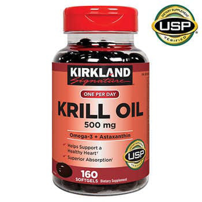 Picture of Kirkland Signature Krill Oil 500 mg 160 Softgels