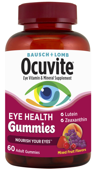 Picture of Bausch + Lomb Ocuvite Eye Vitamin & Mineral Supplement Eye Health Gummies 60 CT
