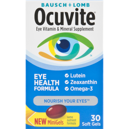 Picture of Ocuvite Eye Vitamin & Mineral Supplement Soft Gels 30 ct