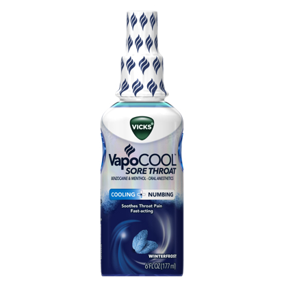 Picture of Vicks VapoCool Sore Throat Numbing Spray Medicine Winterfrost 6 oz