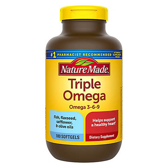 Picture of Nature Made Triple Omega 3 6 9 Softgels 180 ct