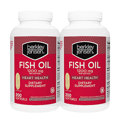 Picture of Berkley Jensen 1200 mg Fish Oil Softgels 2 pk 200 ct