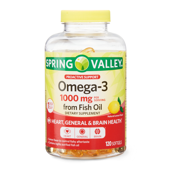 Picture of Spring Valley Omega-3 Fish Oil Soft Gels 1000 mg 120 Count