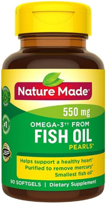 Picture of Nature Made Fish Oil Omega-3 Pearls Softgels 500 Mg 90 Ct