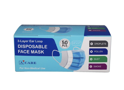 Picture of 3 Layer Disposable Face Mask 50 pk