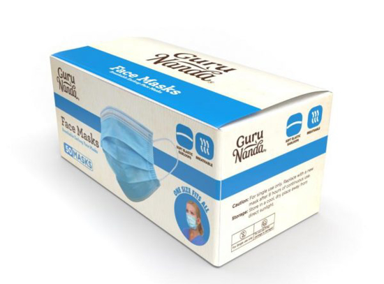 Picture of Guru Nanda 3 Ply Disposable Face Mask 50 count