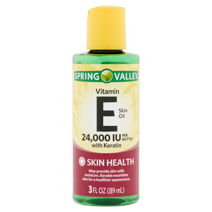 Spring Valley Vitamin E Skin Oil with Keratin 24000 IU 3 fl oz