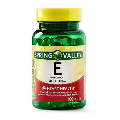 Picture of Spring Valley Vitamin E Supplement 400IU 100 Softgel Capsules