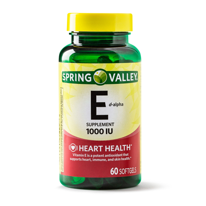Picture of Spring Valley Vitamin E Softgels 670 mg 1000 IU 60 Count