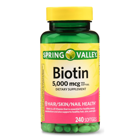 Picture of Spring Valley Biotin Softgels 5000 mcg 240 Count