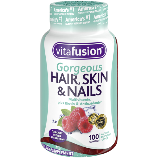 Picture of Vitafusion Gorgeous Hair Skin & Nails Multivitamin Gummy Vitamins 100ct