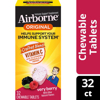 Airborne Immune Support Tablets with Vitamin C Very Berry 32 Chewable Tablets