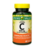 Spring Valley Vitamin C Chewable Tablets Orange Flavor 500 mg 60 Count