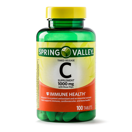 Spring Valley Vitamin C Timed Release Tablets 1000 mg 100 Ct