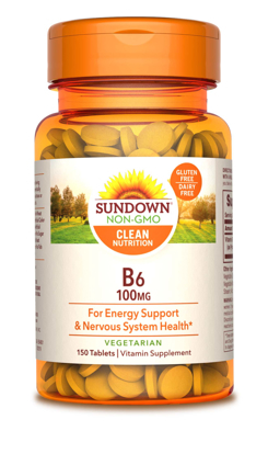 Sundown Naturals® Vitamin B-6 100 mg, 150 Tablets