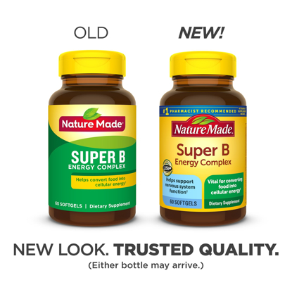 Nature Made Super B Energy Complex Softgels 60 Count for Metabolic Health