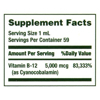 Nature's Bounty Vitamin B12 Sublingual Liquid Natural Berry 5000 mg 2 fl oz