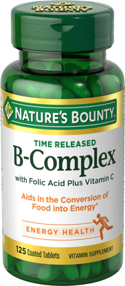 Nature's Bounty® Vitamin B Complex with Folic Acid Plus Vit C 125 Time Release Tablets