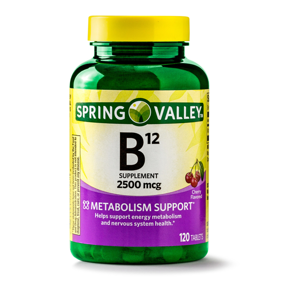 Spring Valley Vitamin B12 Tablets 2500 mg 120 Ct