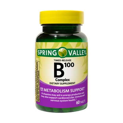Spring Valley Timed-Release B100 Complex Tablets 60 Count