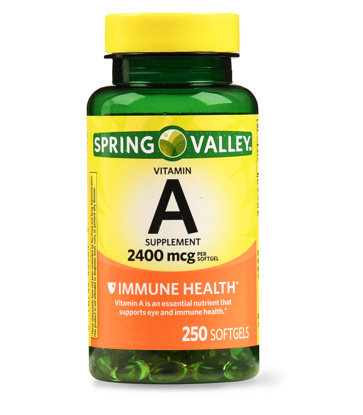 Spring Valley Vitamin A Softgels 2400 mg 250 Count