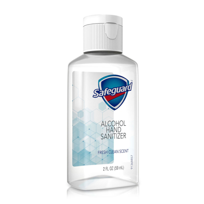 Safeguard Alcohol Hand Sanitizer Fresh Clean Scent 2 oz 48 ct