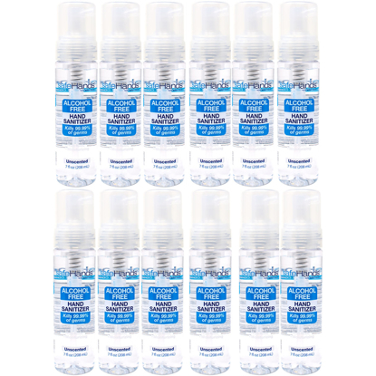 safeHands Alcohol Free Foaming Hand Sanitizer 7 oz 12 pk