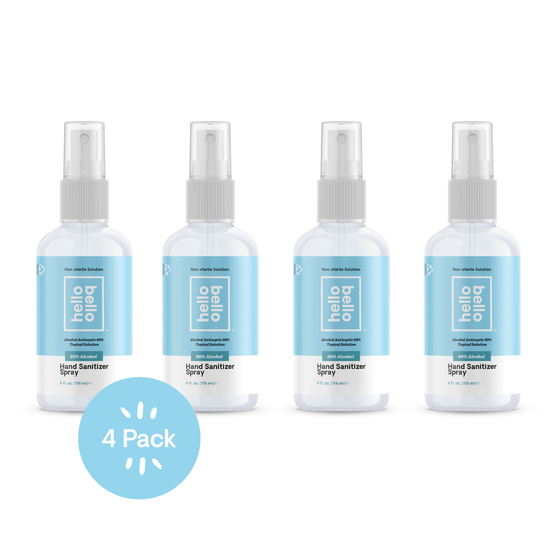 Hello Bello Hand Sanitizer Spray Unscented 4oz - 4PK