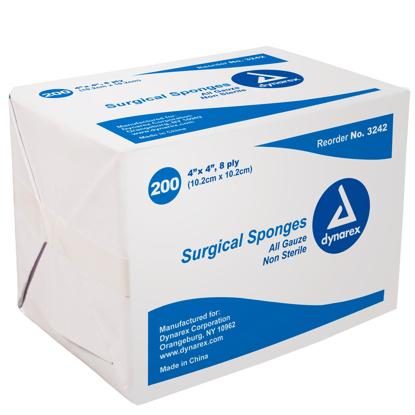 """Dynarex Non-Sterile Gauze Sponges 4"""" x 4"""""""