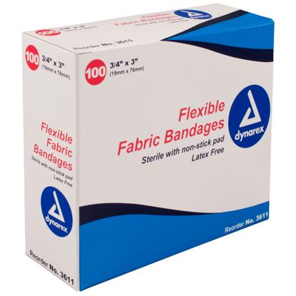 """Dynarex Flexible Sterile Bandage 3/4"""" x 3"""""""