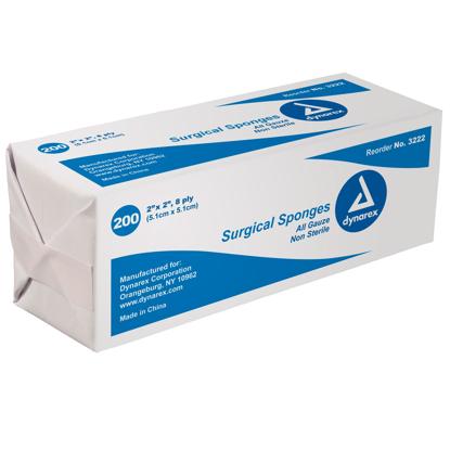 """Dynarex Non-Sterile Gauze Sponges 2"""" x 2"""""""