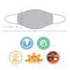 SKIN360 Premium Reusable Cloth Face Mask 6 pk
