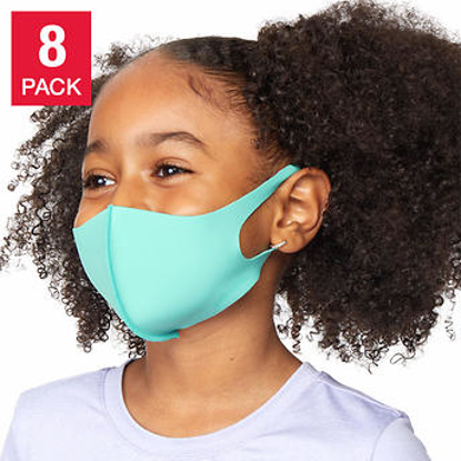 32 Degrees Kid's Unisex Face Cover 8 pack