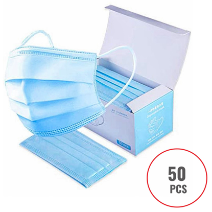 NEW Disposable Face Mouth Mask 3-Ply Ear Loop 50 PCS