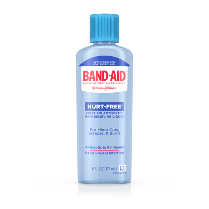 Band Aid Brand First Aid Hurt Free Antiseptic Wash Treatment 6 fl. oz 2 pack