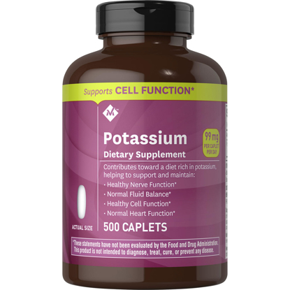 Member's Mark 99 mg Potassium Dietary Supplement 500 ct