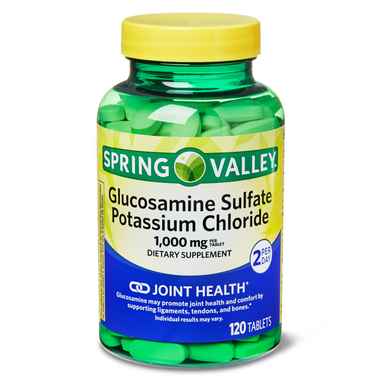 Spring Valley Glucosamine Sulfate Potassium Chloride Tablets 1000 mg 120 Count