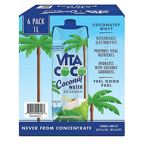 Vita Coco Pure Coconut Water 6 pk 1L