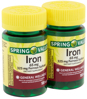 Spring Valley Iron Tablets 65 mg 100 Count 2 Pack