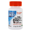Doctor's Best Iron Tablets 27 mg 120 Ct